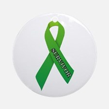 Green Ribbon 'Survivor' Ornament (Round)