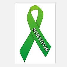 Green Ribbon 'Survivor' Postcards (Package of 8)