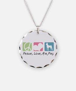 Peace, Love, Min Pins Necklace