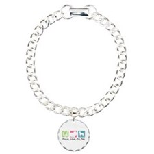 Peace, Love, Min Pins Bracelet