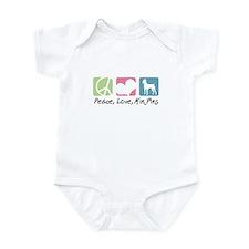 Peace, Love, Min Pins Infant Bodysuit