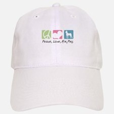 Peace, Love, Min Pins Baseball Baseball Cap