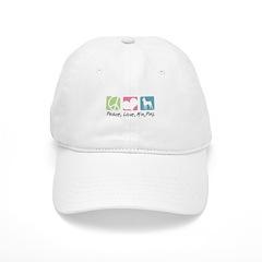 Peace, Love, Min Pins Baseball Cap