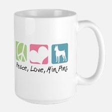 Peace, Love, Min Pins Mug