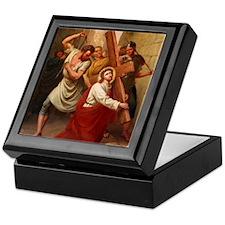 Jesus Falls Keepsake Box