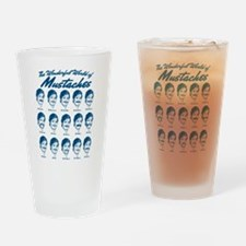 World of Mustaches Drinking Glass