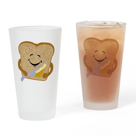 Buttered Toast Drinking Glass