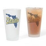 Florida Social Security State Drinking Glass