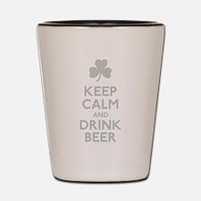 KEEP CALM Shamrock Shot Glass