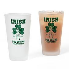 Irish Pub Boxing Drinking Glass