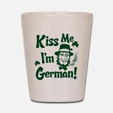 Kiss Me I'm German Shot Glass