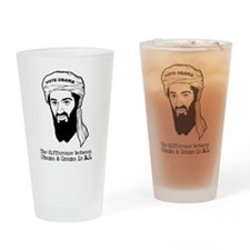 Obama and Osama BS Drinking Glass
