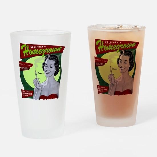 CA Homegrown Drinking Glass
