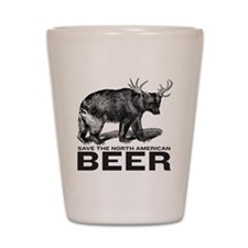 Save Beer Shot Glass