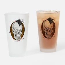 Mohawk Skull Drinking Glass