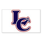 LC Logo in Navy and Red Sticker (Rectangle 10 pk)
