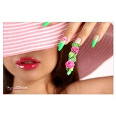 Nail Art - Acrylic 3D Roses Poster