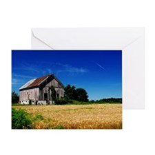 Farm on a Field Greeting Card