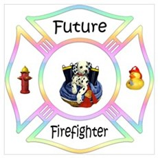 Future Firefighter Pastel Poster