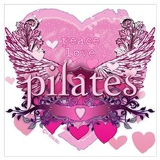 Peace Love Pilates by Svelte. Poster