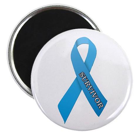 Light Blue Ribbon 'Survivor' Magnet