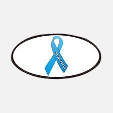 Light Blue Ribbon 'Survivor' Patches