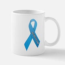 Light Blue Ribbon 'Survivor' Mug