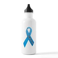 Light Blue Ribbon 'Survivor' Sports Water Bottle