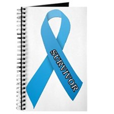 Light Blue Ribbon 'Survivor' Journal