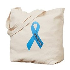 Light Blue Ribbon 'Survivor' Tote Bag