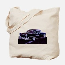 Funny 50%27s race cars Tote Bag