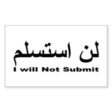 I WIll Not Submit (1) Decal