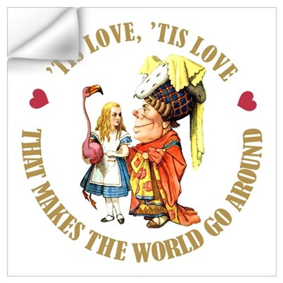 LOVE MAKES THE WORLD GO AROUND Wall Decal