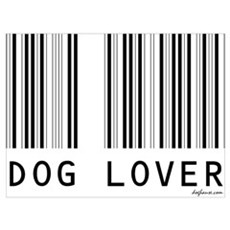 Dog Lover Barcode Poster
