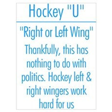 """Left Wing or Right Wing"" Poster"