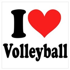 I Heart Volleyball: Poster