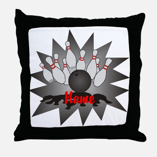 Personalized Bowling Throw Pillow