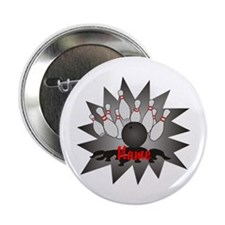 """Personalized Bowling 2.25"""" Button (10 pack)"""