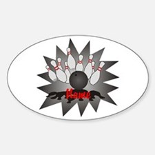 Personalized Bowling Sticker (Oval)