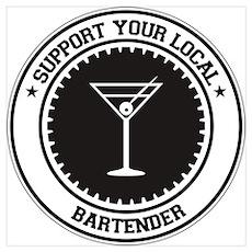 Support Bartender Poster