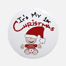 It's My 1st Christmas Ornament (Round)
