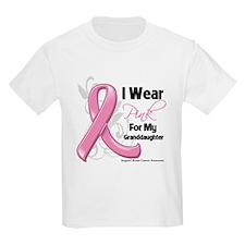 I Wear Pink For Granddaughter T-Shirt