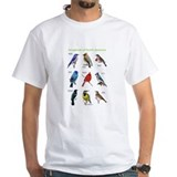 Birds Mens Classic White T-Shirts