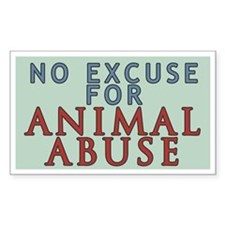 No Animal Abuse Decal