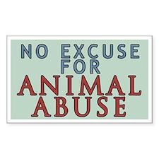 No Animal Abuse Decal