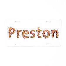 Preston Fiesta Aluminum License Plate