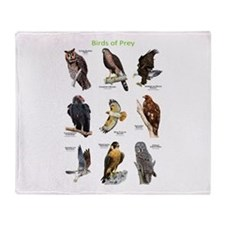 Northern American Birds of Prey Throw Blanket