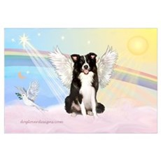 Border Collie Angel Poster