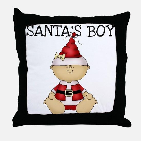 Santa's Boy Throw Pillow