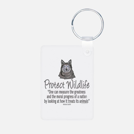 Protect Wolves Keychains